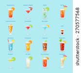 alcohol drinks and cocktails... | Shutterstock .eps vector #270577568