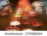 abstract city traffic  night... | Shutterstock . vector #270580034