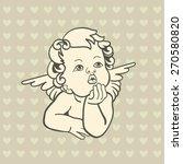 vintage angel   Shutterstock .eps vector #270580820