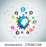 flat style concept for social... | Shutterstock .eps vector #270581768
