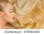 profile of beautiful woman with ... | Shutterstock . vector #270582320