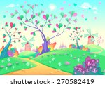 springy landscape with... | Shutterstock .eps vector #270582419