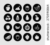 fruit icon set   Shutterstock .eps vector #270590864