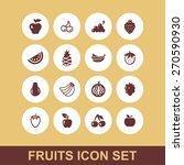 fruit icon set | Shutterstock .eps vector #270590930