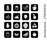 fruit icon set   Shutterstock .eps vector #270590954