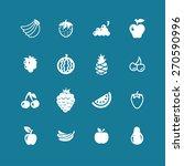 fruit icon set | Shutterstock .eps vector #270590996