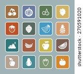 fruit icon set | Shutterstock .eps vector #270591020