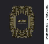 vector geometric linear style... | Shutterstock .eps vector #270592283