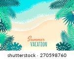 Palm Leaves  Tropical Beach ...