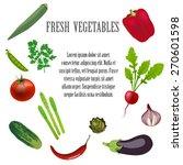 fresh vegetables on wooden... | Shutterstock . vector #270601598