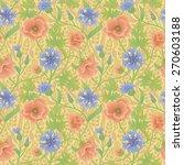 summer natural wallpaper with... | Shutterstock .eps vector #270603188