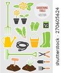 spring gardening tools set ... | Shutterstock .eps vector #270605624