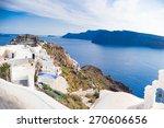 beautiful landscape of santorini | Shutterstock . vector #270606656