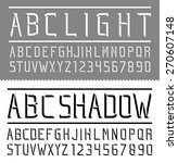 abc light  abc shadow  font and ... | Shutterstock .eps vector #270607148