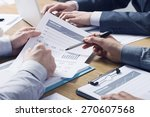 business professionals working... | Shutterstock . vector #270607568