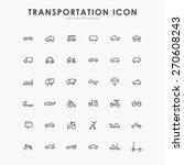 6x6 transportation minimal line ... | Shutterstock .eps vector #270608243