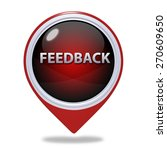 feedback pointer icon on white... | Shutterstock . vector #270609650