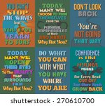 unusual motivational and... | Shutterstock .eps vector #270610700