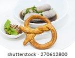 sausages in beer sauce with... | Shutterstock . vector #270612800