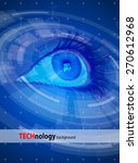 technology back round   blue... | Shutterstock .eps vector #270612968