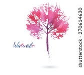 watercolor natural leaf made in ... | Shutterstock .eps vector #270614630