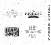 limited edition poster and best ... | Shutterstock .eps vector #270616673