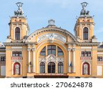 Small photo of CLUJ NAPOCA, ROMANIA - APRIL 13, 2015: Lucian Blaga National Theatre in Cluj is one of the most prestigious theatrical institutions in Romania and shares the same building with the Romanian Opera.