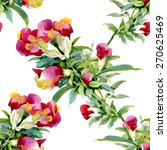 colorful watercolor wildflowers ... | Shutterstock .eps vector #270625469