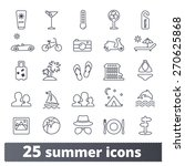summer travel icons  vector set ... | Shutterstock .eps vector #270625868