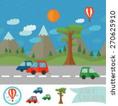 vector illustration with cars....   Shutterstock .eps vector #270625910
