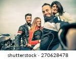 Bikers Taking Selfie With...