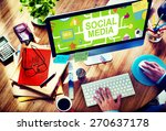 social media social networking... | Shutterstock . vector #270637178
