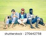 Постер, плакат: Group of young multiracial