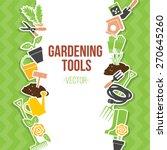 spring gardening tools set ... | Shutterstock .eps vector #270645260