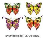 set of colour butterflies.... | Shutterstock .eps vector #27064801
