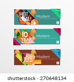 set of banners with stickers ... | Shutterstock .eps vector #270648134