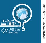 Save Water. World Water Day...