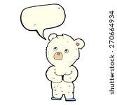 cartoon polar bear cub with... | Shutterstock .eps vector #270664934