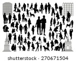 people silhouettes in the city | Shutterstock .eps vector #270671504