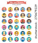 colorful male and female faces... | Shutterstock .eps vector #270679229
