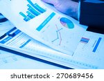 man analysis business and... | Shutterstock . vector #270689456