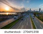 traffic passes along the... | Shutterstock . vector #270691358