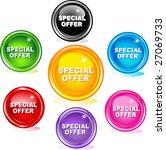 special offer buttons | Shutterstock .eps vector #27069733