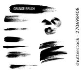 vector set of grunge brush... | Shutterstock .eps vector #270698408