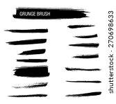 vector set of grunge brush... | Shutterstock .eps vector #270698633