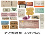 world traveler tickets... | Shutterstock .eps vector #270699608