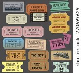 great vintage tickets... | Shutterstock .eps vector #270699629