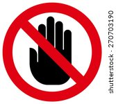 do not touch icon | Shutterstock .eps vector #270703190