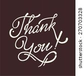 thank you hand lettering  ... | Shutterstock .eps vector #270703328