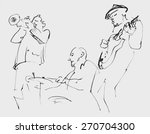 Jazz Musicians Playing Music